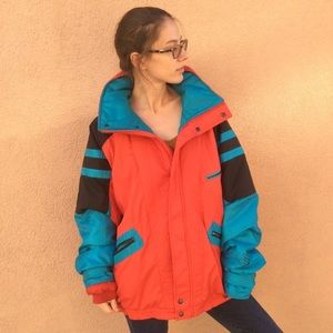 80's Winter Ski Jacket Warm Puffer Style Vintage